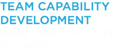 TEAM CAPABILITY DEVELOPMENT HARNESSING COLLECTIVE POTENTIAL